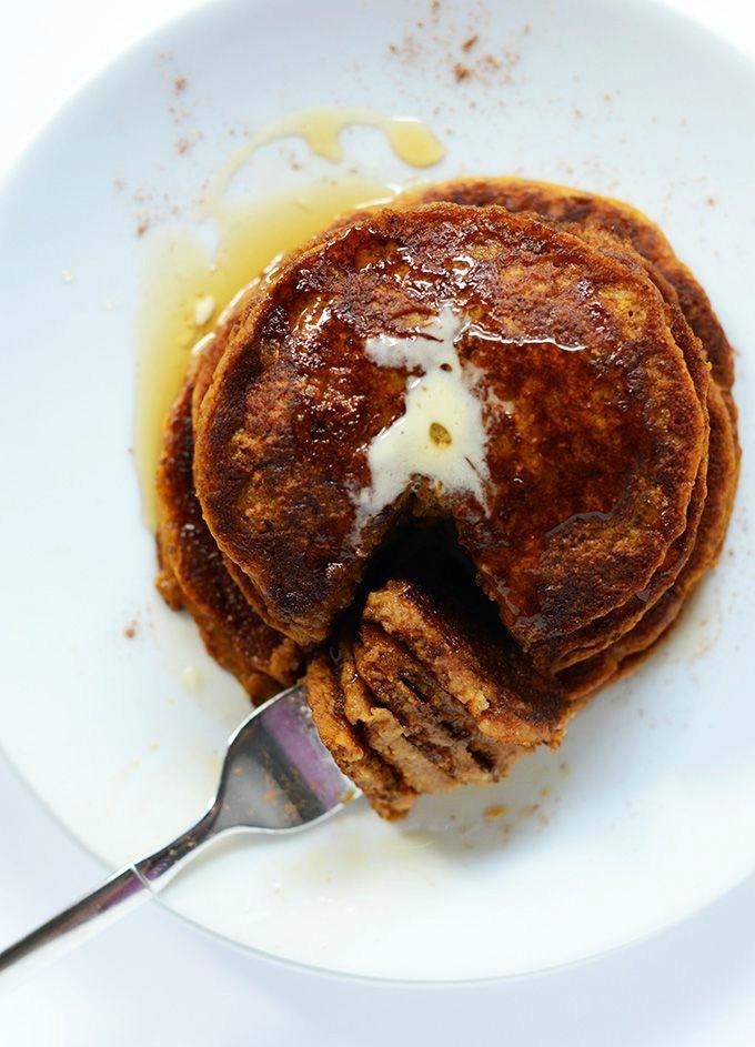 pumpkin-cinna pancakes